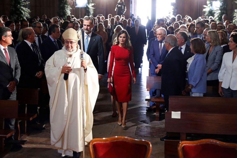 La reine Letizia d'Espagne à Covadonga, le 8 septembre 2018