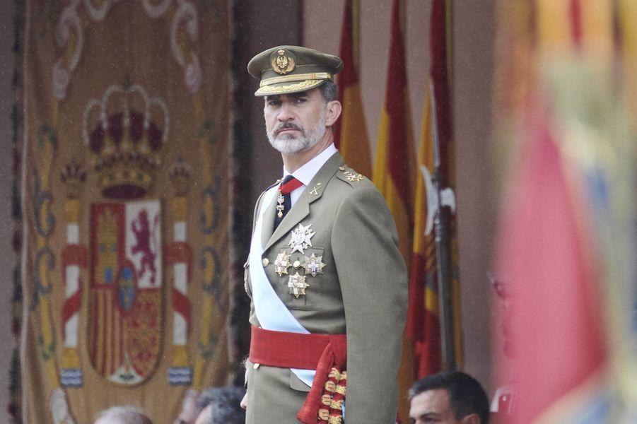 Le roi Felipe VI d'Espagne à Madrid, le 12 octobre 2018