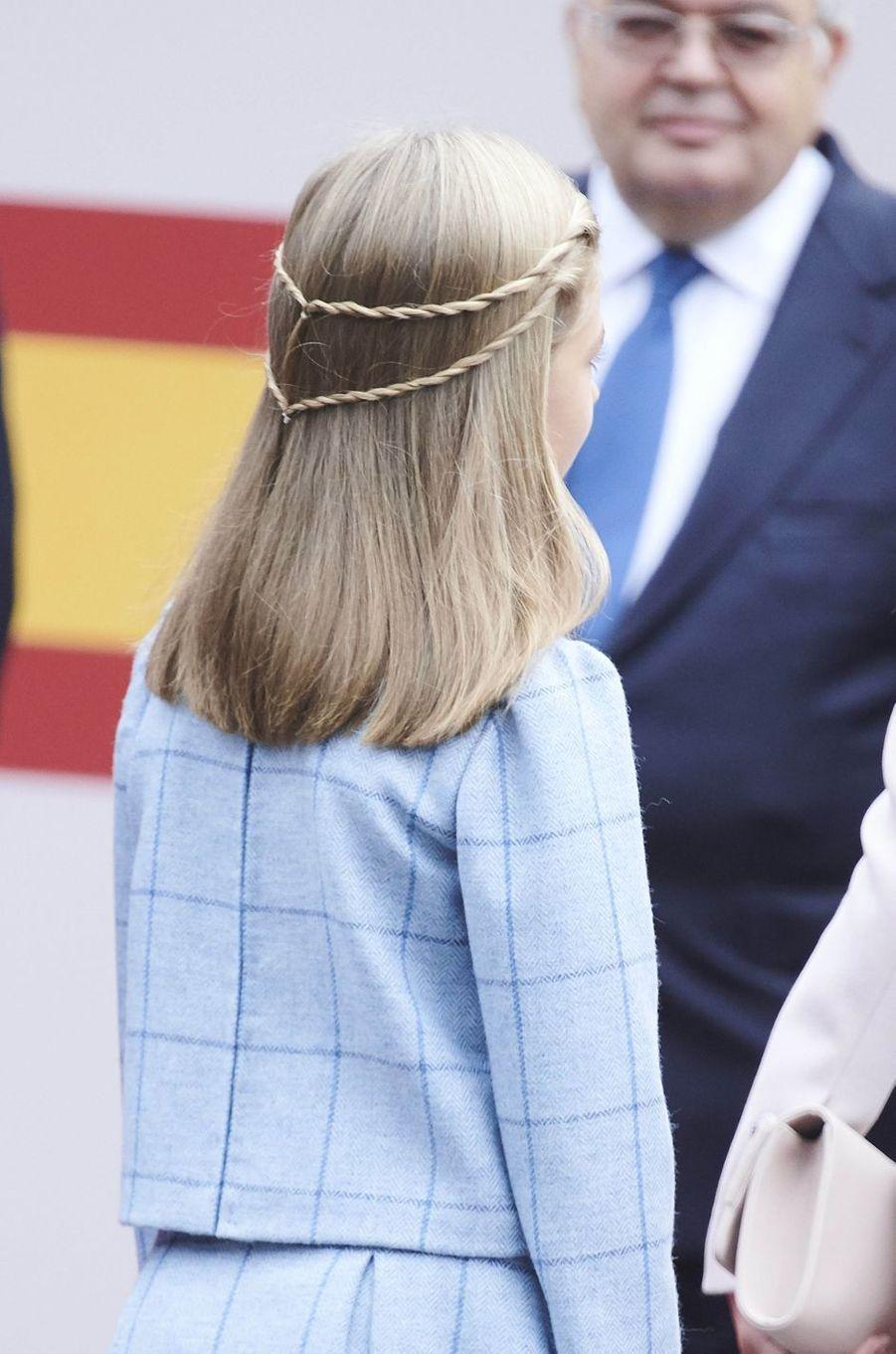 La princesse Sofia d'Espagne à Madrid, le 12 octobre 2018