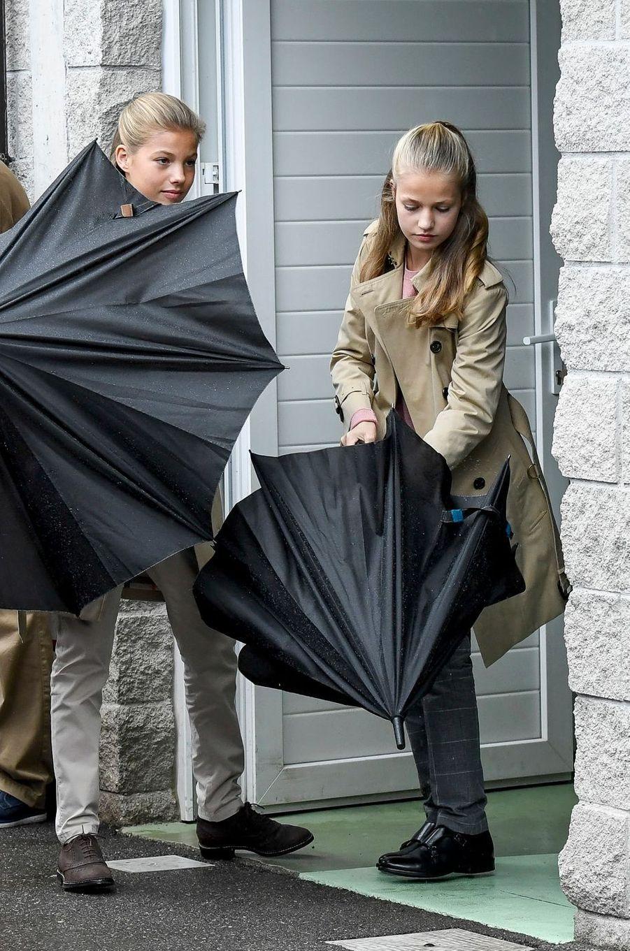 Les princesses Sofia et Leonor d'Espagne à Asiegu, le 19 octobre 2019