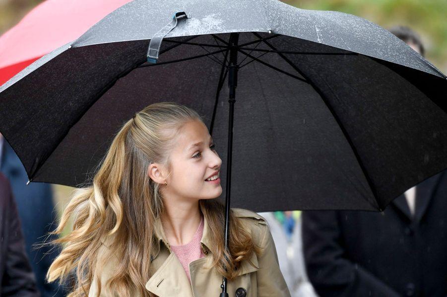 La princesse Leonor d'Espagne à Asiegu, le 19 octobre 2019