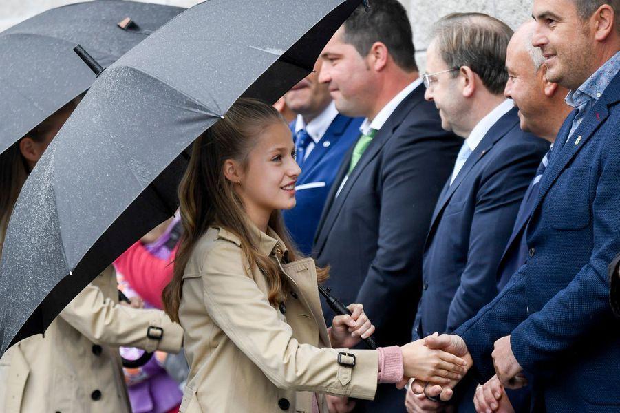 Les princesses Leonor et Sofia d'Espagne à Asiegu, le 19 octobre 2019