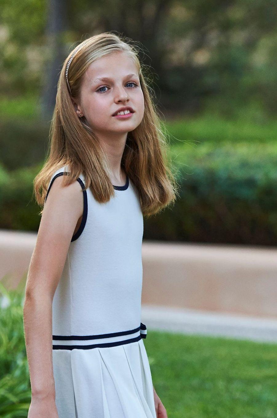 La princesse Leonor d'Espagne au palais de Marivent à Palma de Majorque, le 4 août 2016