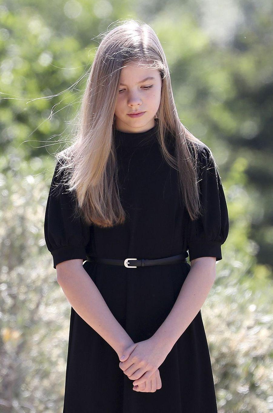 La princesse Sofia d'Espagne à Madrid, le 27 mai 2020