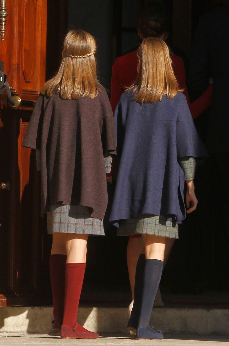 Les princesses Sofia et Leonor d'Espagne à Madrid, le 6 décembre 2018