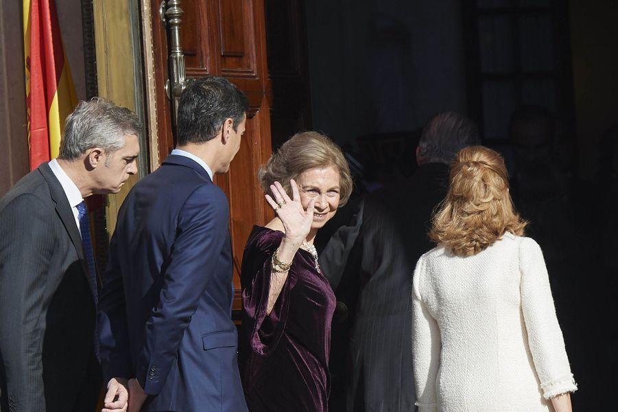 L'ex-reine Sofia d'Espagne à Madrid, le 6 décembre 2018