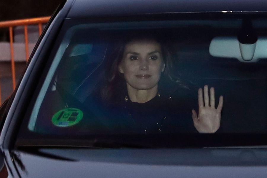 La reine Letizia d'Espagne à Madrid, le 6 janvier 2019