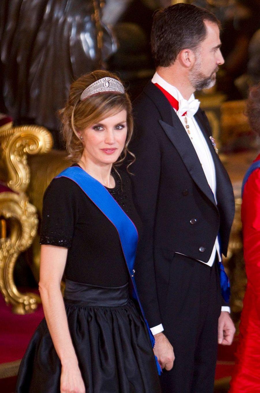 La princesse Letizia et le prince Felipe d'Espagne, le 7 mars 2011