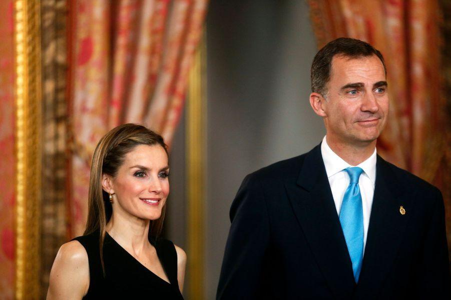 La princesse Letizia et le prince Felipe d'Espagne, le 10 juin 2014
