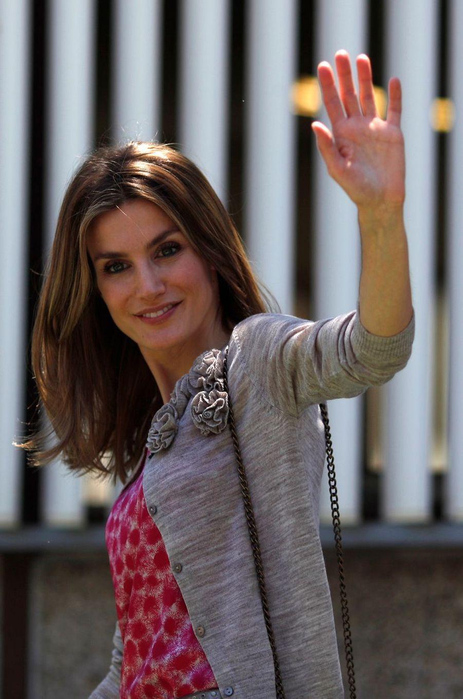 La princesse Letizia d'Espagne, le 22 mai 2012