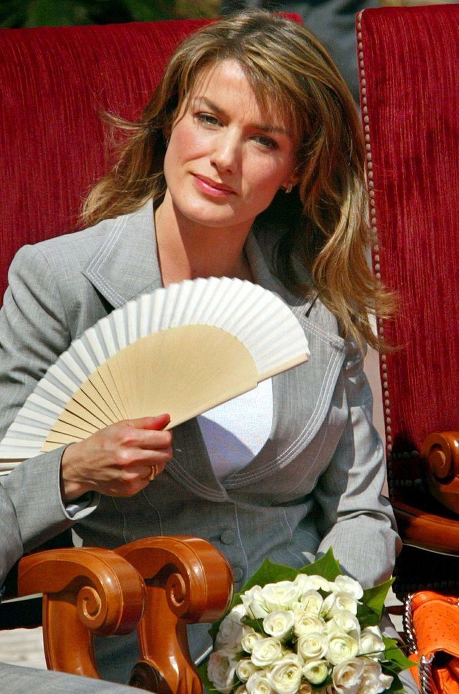 La princesse Letizia d'Espagne, le 12 mai 2005