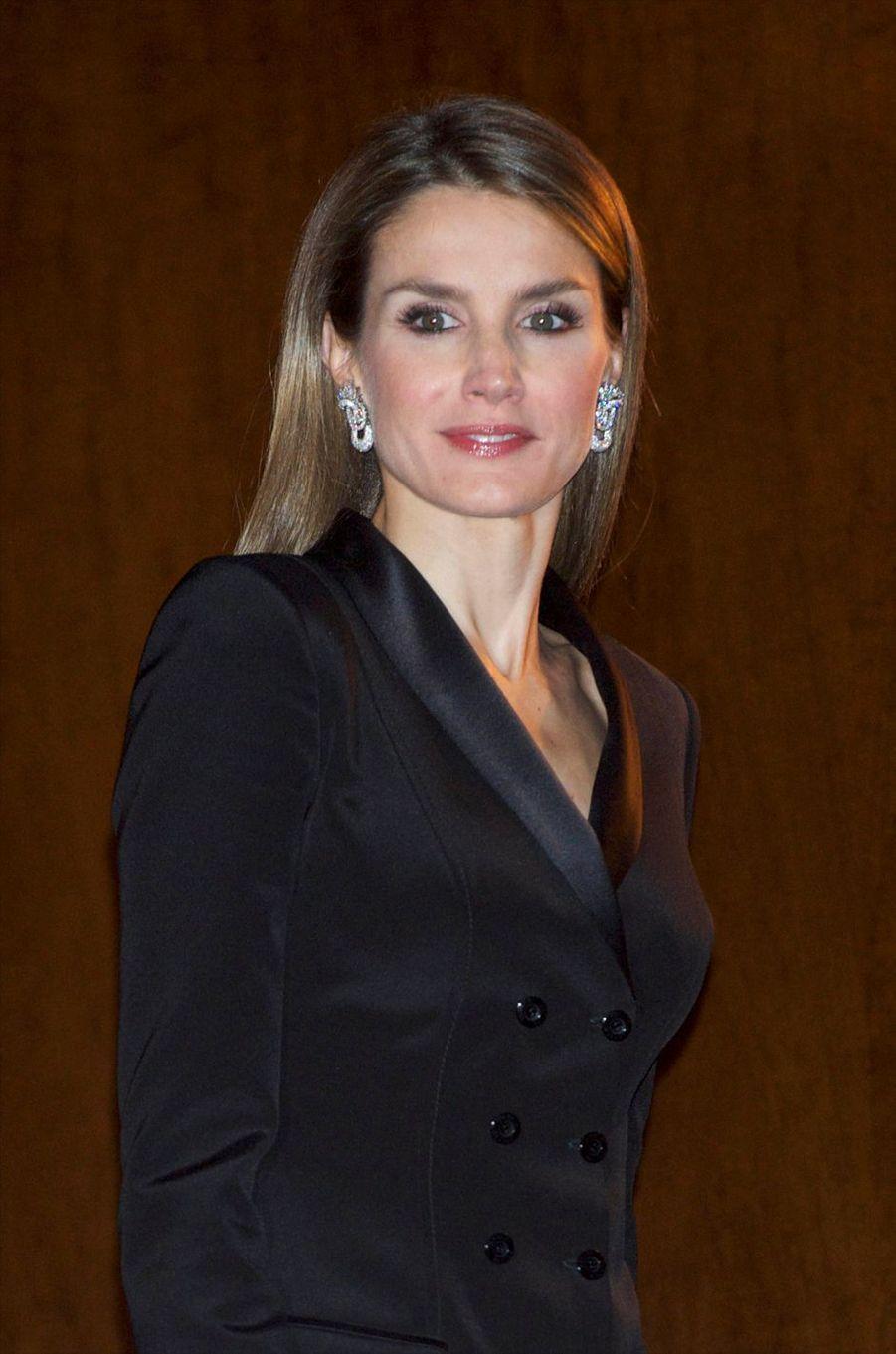 La reine Letizia d'Espagne, le 24 octobre 2013