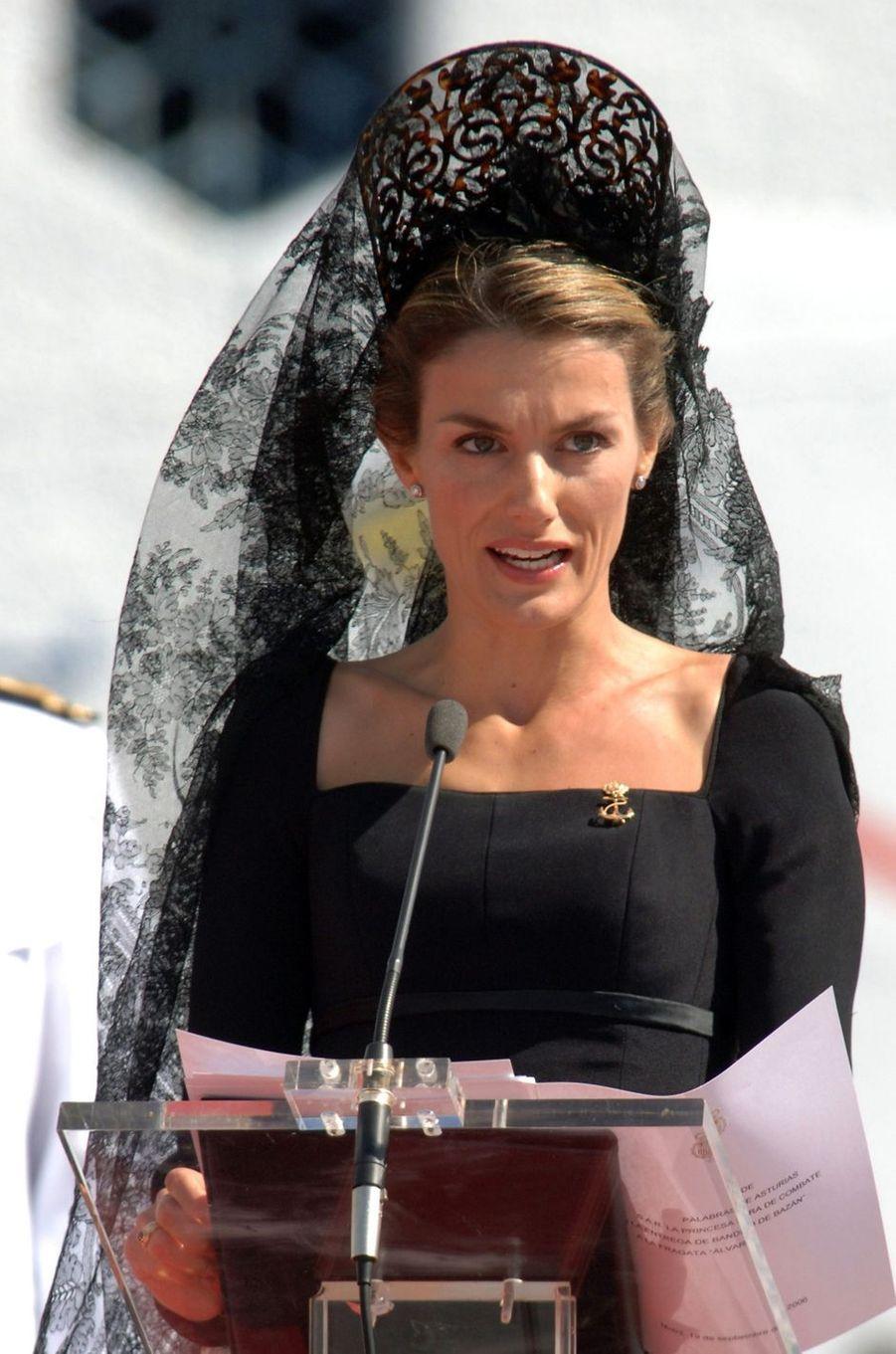La princesse Letizia d'Espagne, le 19 septembre 2006