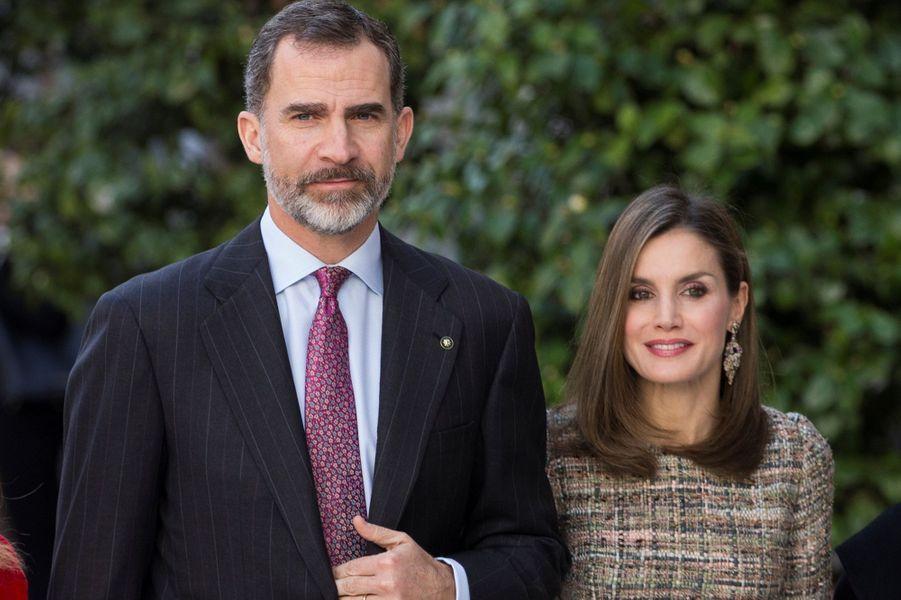 Felipe VI et Letizia d'Espagne à Madrid, le 17 février 2017
