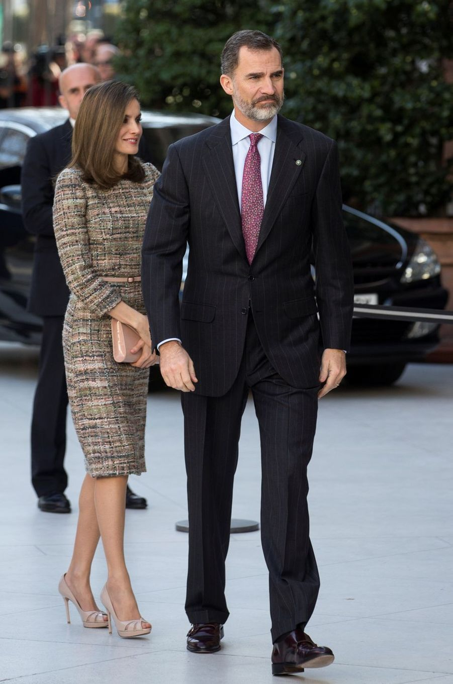 La reine Letizia et le roi Felipe VI d'Espagne à Madrid, le 17 février 2017