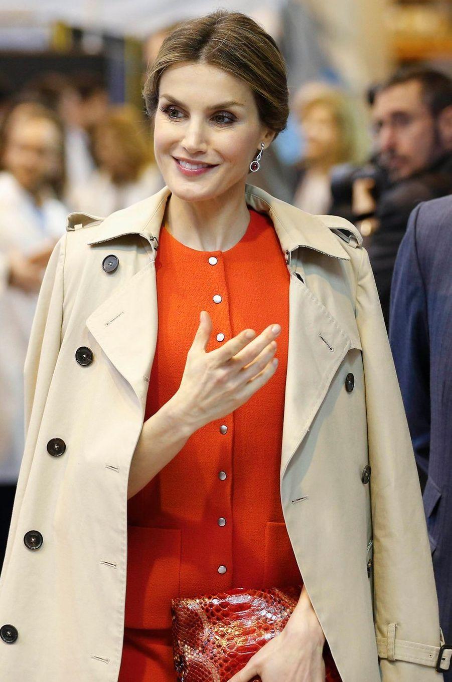 La reine Letizia d'Espagne à La Rinconada, le 10 mai 2016