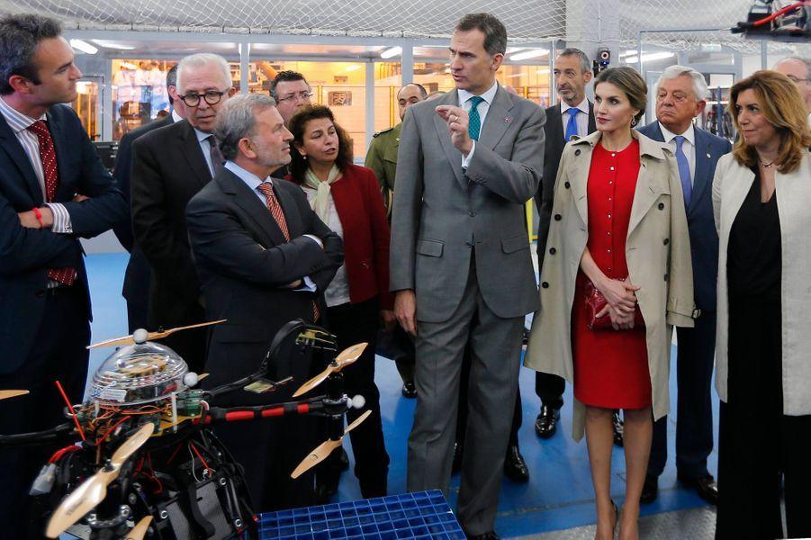 La reine Letizia et le roi Felipe VI d'Espagne à La Rinconada, le 10 mai 2016