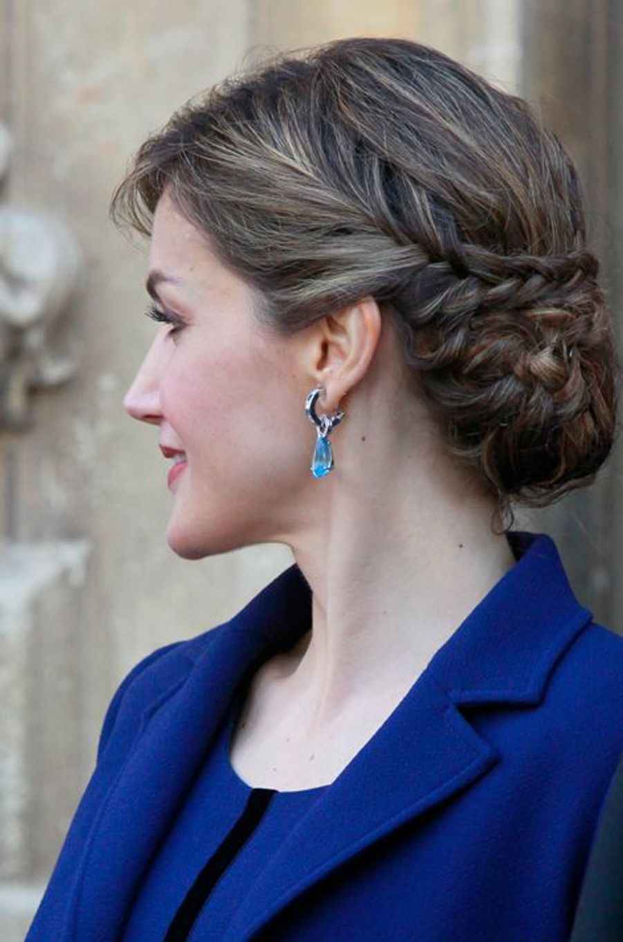 La reine Letizia d'Espagne à Alcala de Henares, le 23 avril 2016