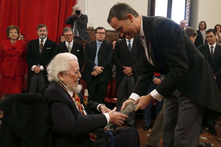 Le roi Felipe VI d'Espagne à Alcala de Henares, le 23 avril 2016