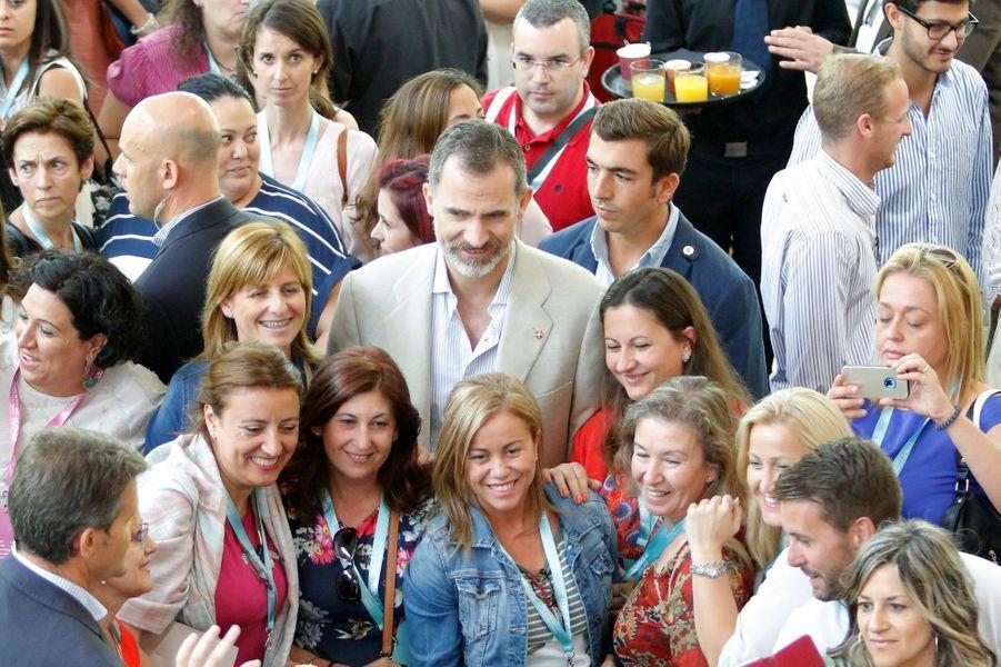Le roi Felipe VI d'Espagne à Gérone, le 30 juin 2017