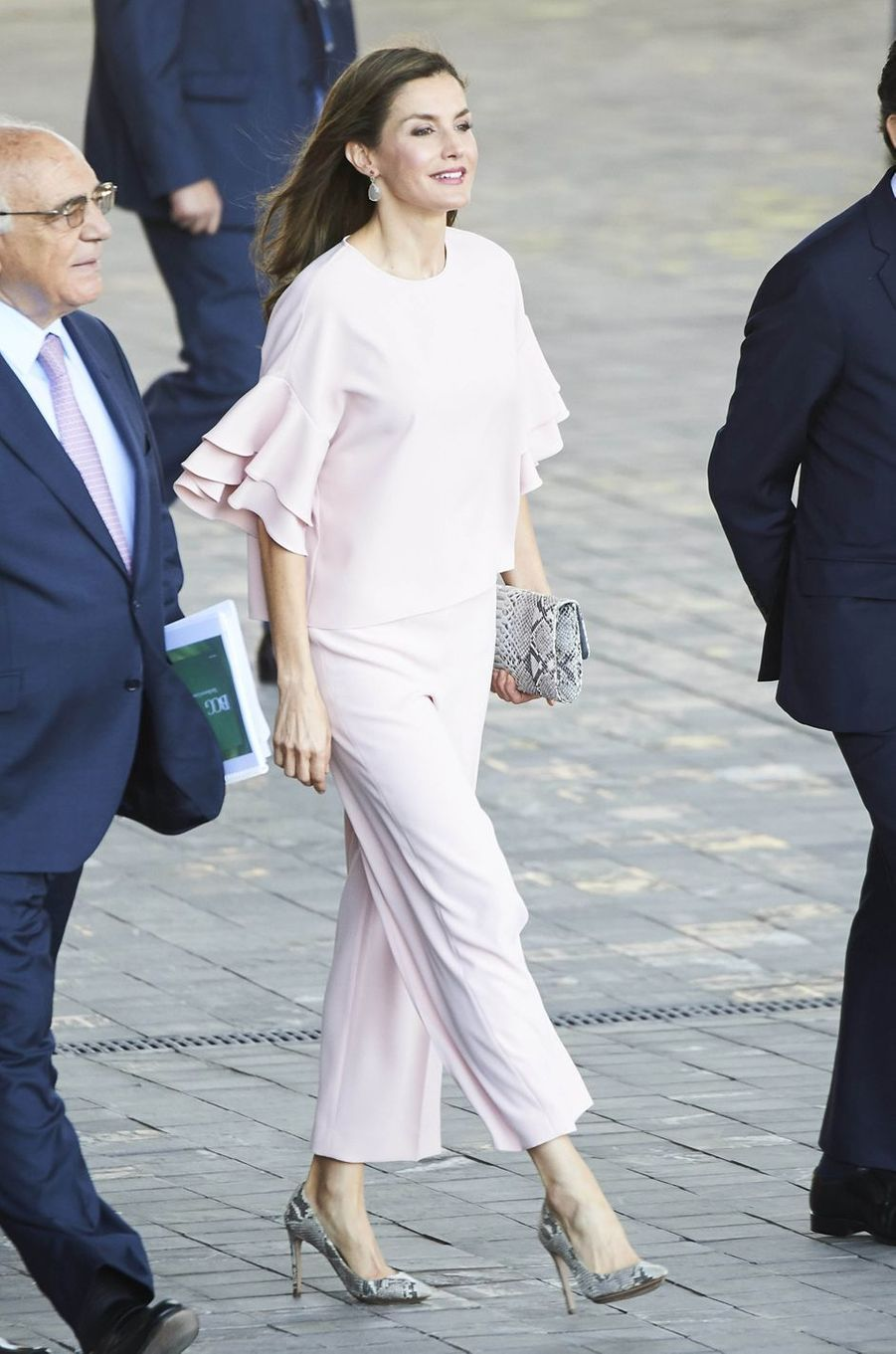 La reine Letizia d'Espagne à Madrid, le 4 juillet 2017