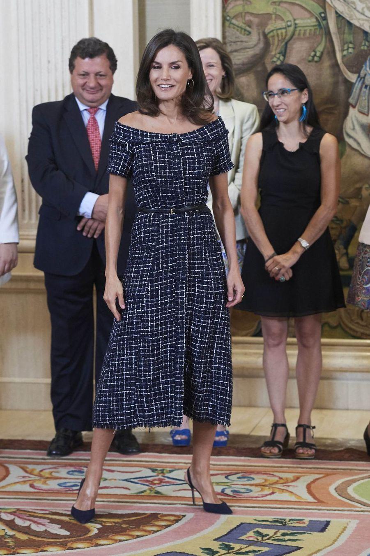 La reine Letizia d'Espagne à Madrid, le 16 juillet 2019