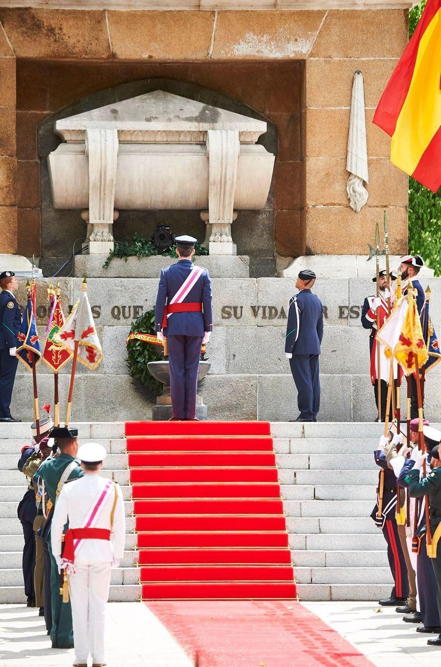 Le roi Felipe VI d'Espagne à Madrid, le 28 mai 2016