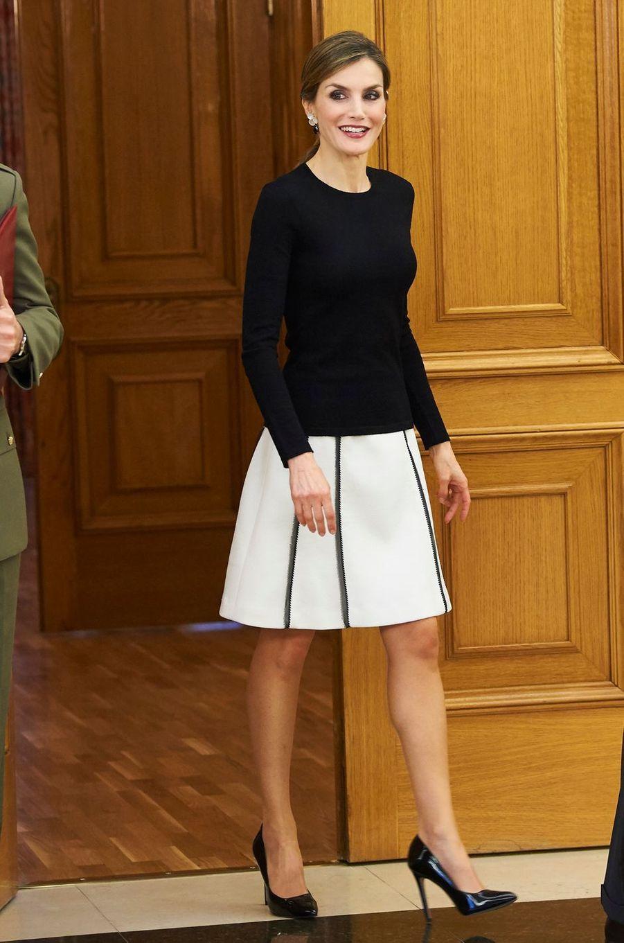La reine Letizia d'Espagne à Madrid, le 2 juin 2016