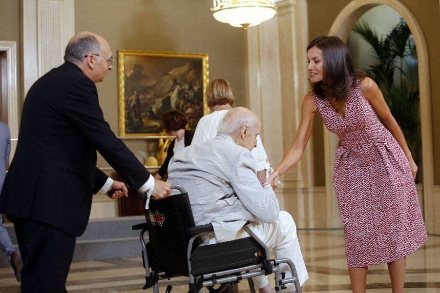 Letizia d'Espagne à Madrid, le 19 juillet 2019