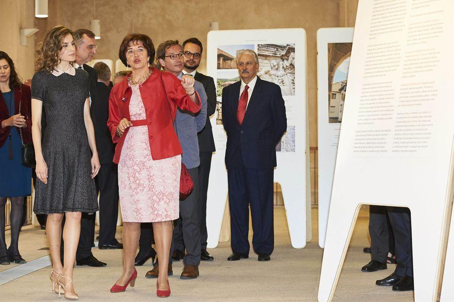 La reine Letizia d'Espagne à Madrid, le 23 mai 2016