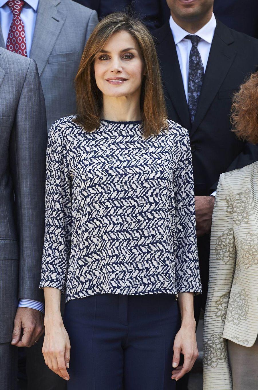 La reine Letizia d'Espagne à Madrid, le 23 juin 2016