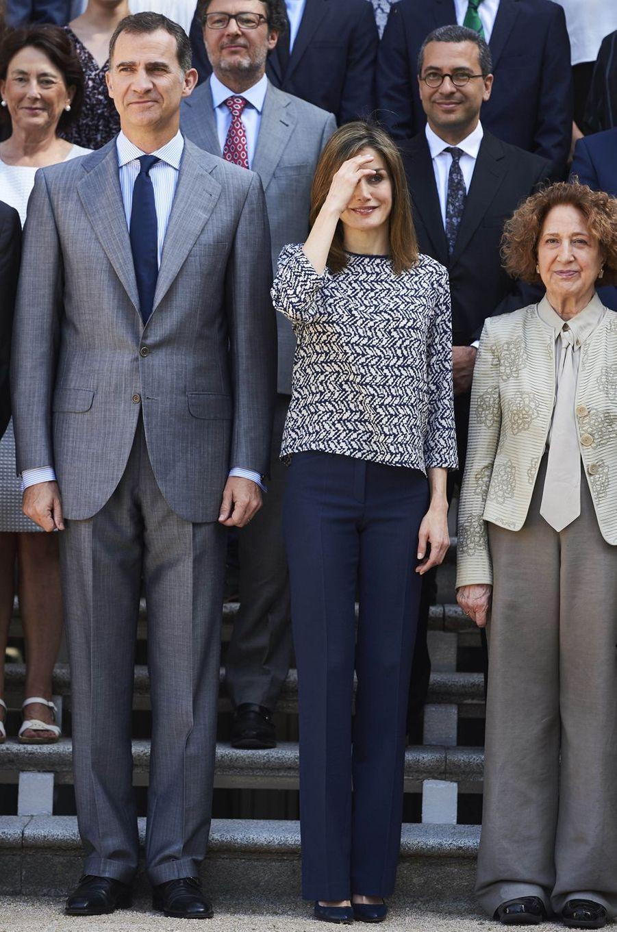 La reine Letizia et le roi Felipe VI d'Espagne à Madrid, le 23 juin 2016