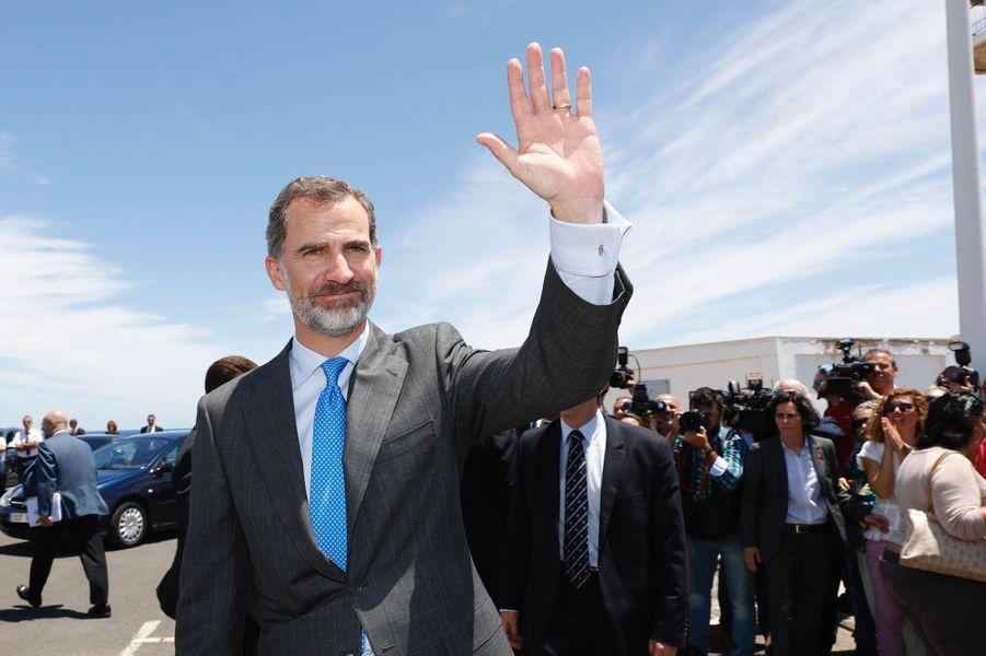Le roi Felipe VI d'Espagne sur l'île de Grande Canarie, le 24 avril 2017