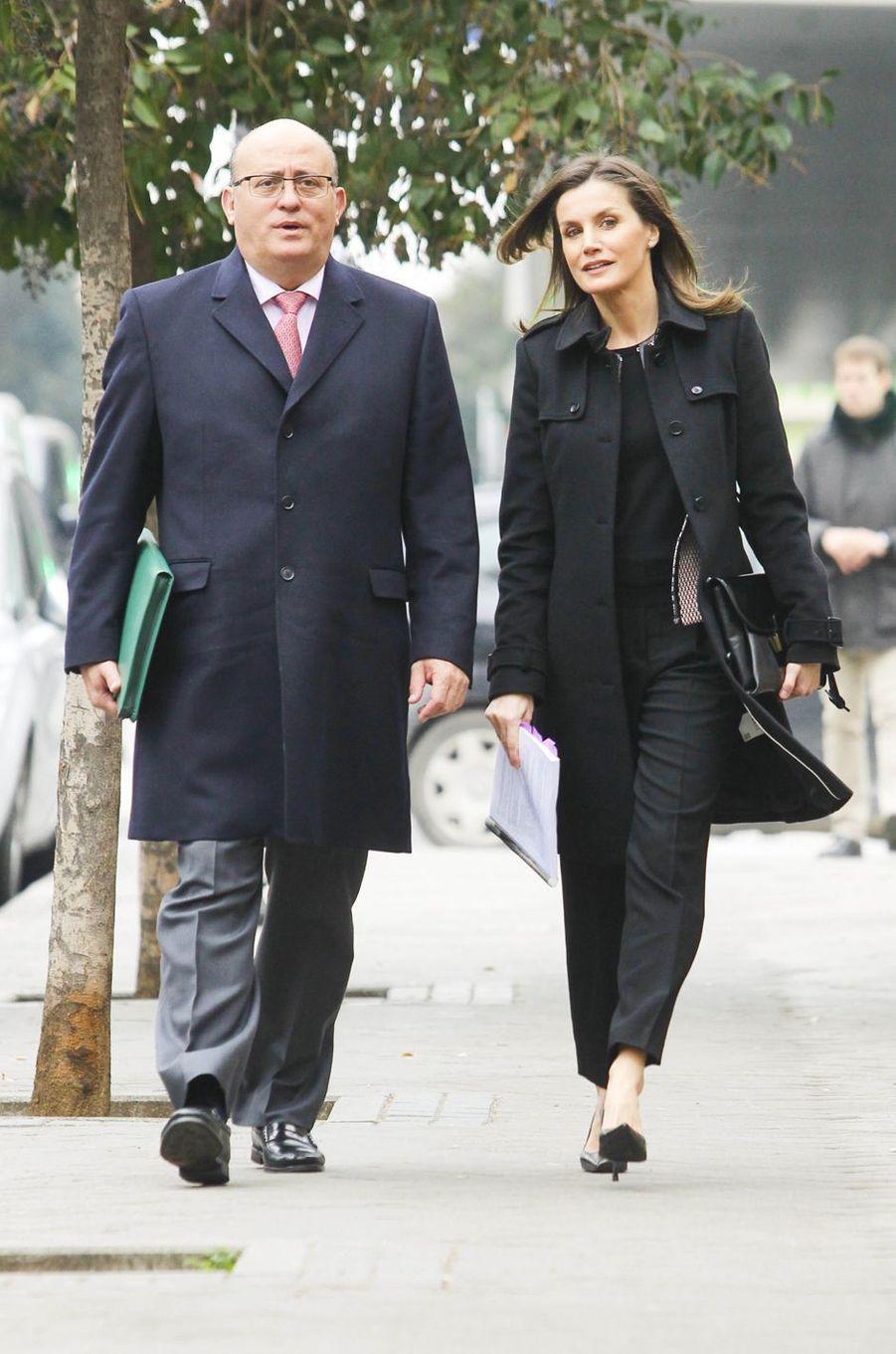 La reine Letizia d'Espagne à Madrid, le 17 janvier 2019