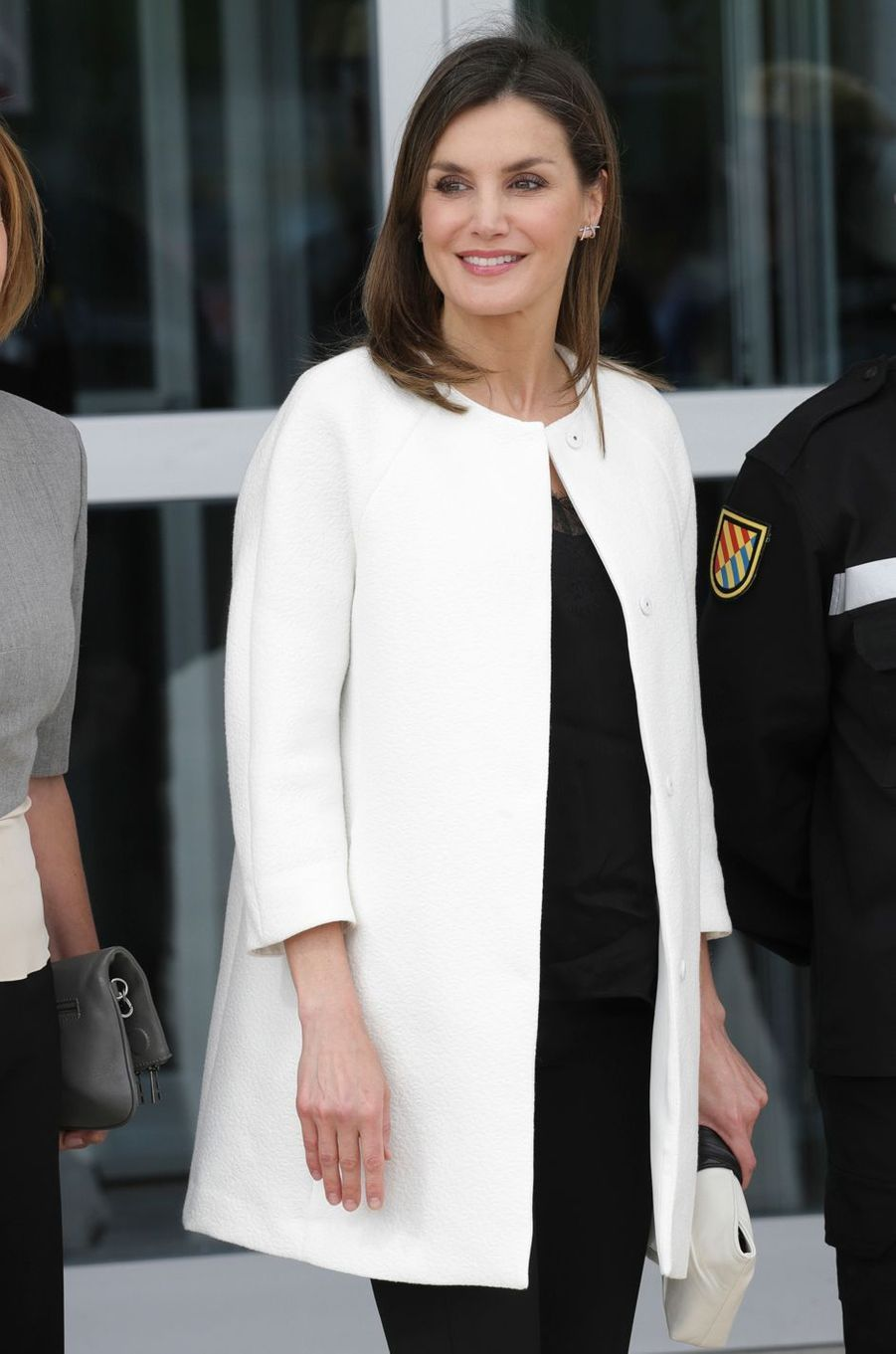 La reine Letizia d'Espagne à la base aérienne de Torrejón de Ardoz, le 18 mai 2018