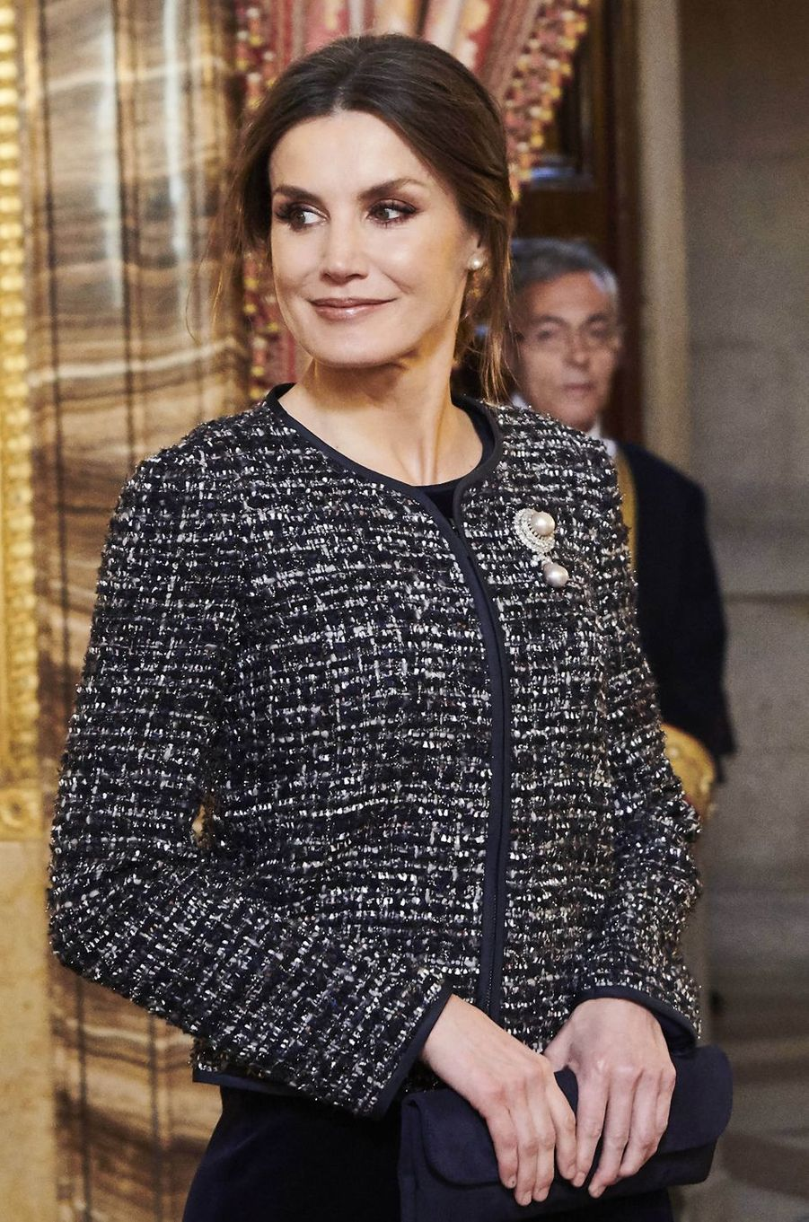 La reine Letizia d'Espagne à la Pascua Militar, le 6 janvier 2019