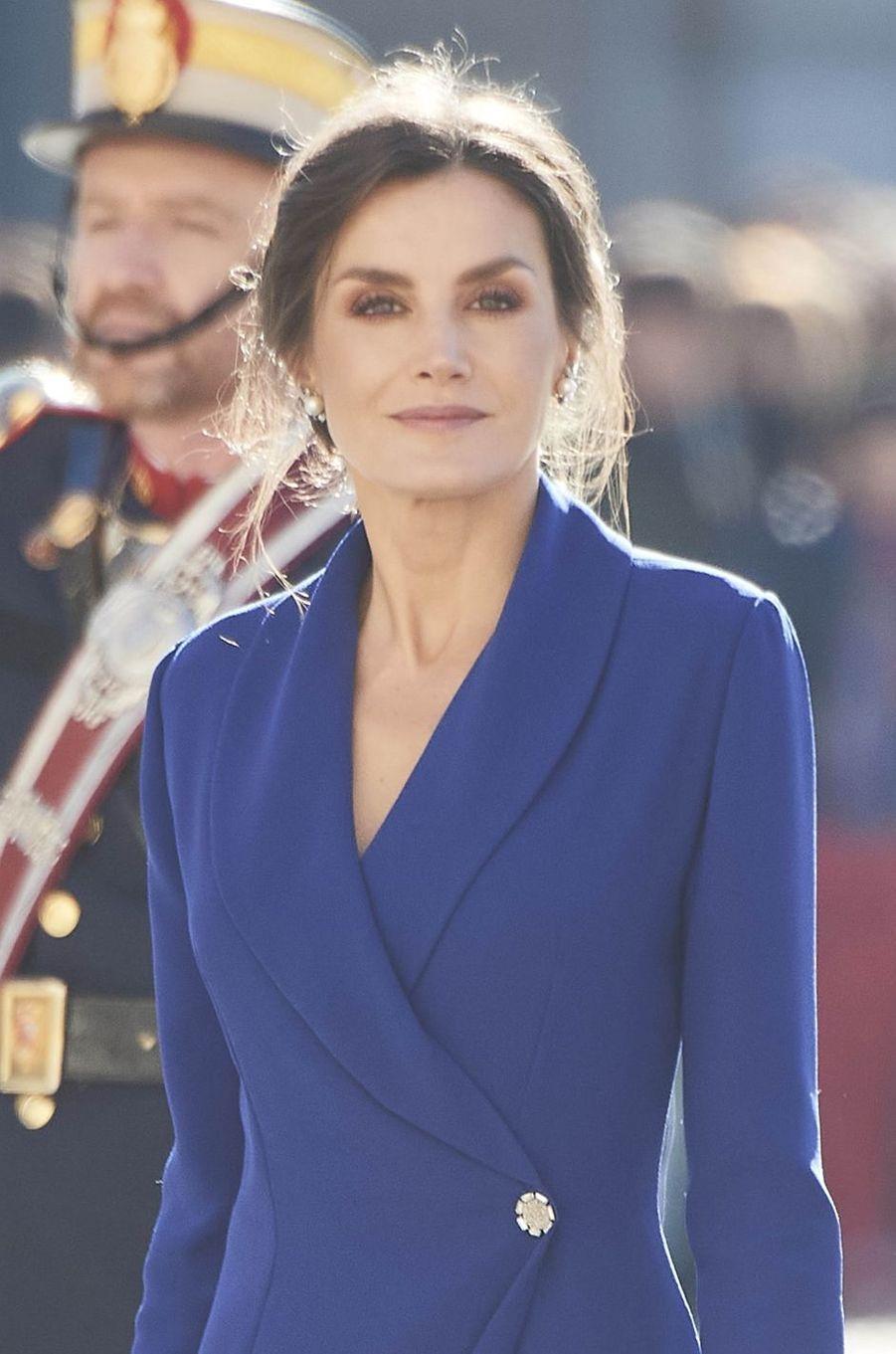 La reine Letizia d'Espagne à la Pascua Militar, le 6 janvier 2020