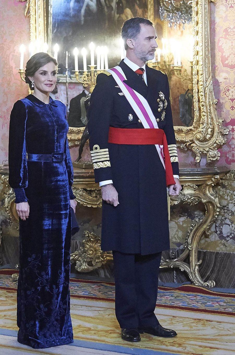 La reine Letizia d'Espagne à la Pascua Militar, le 6 janvier 2018