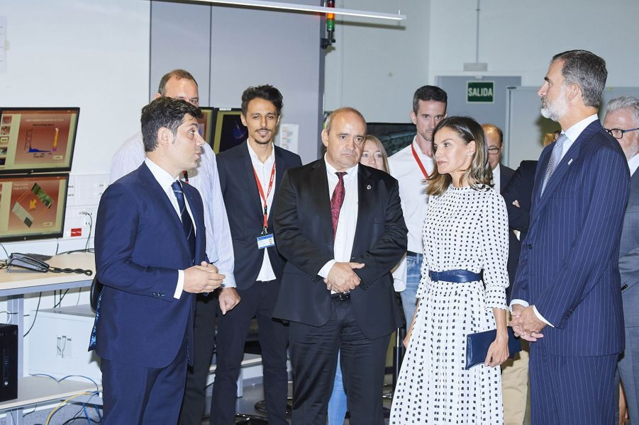 La reine Letizia et le roi Felipe VI d'Espagne à Villamayor, le 18 septembre 2018