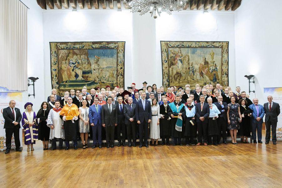 La reine Letizia et le roi Felipe VI d'Espagne à Salamanque, le 18 septembre 2018