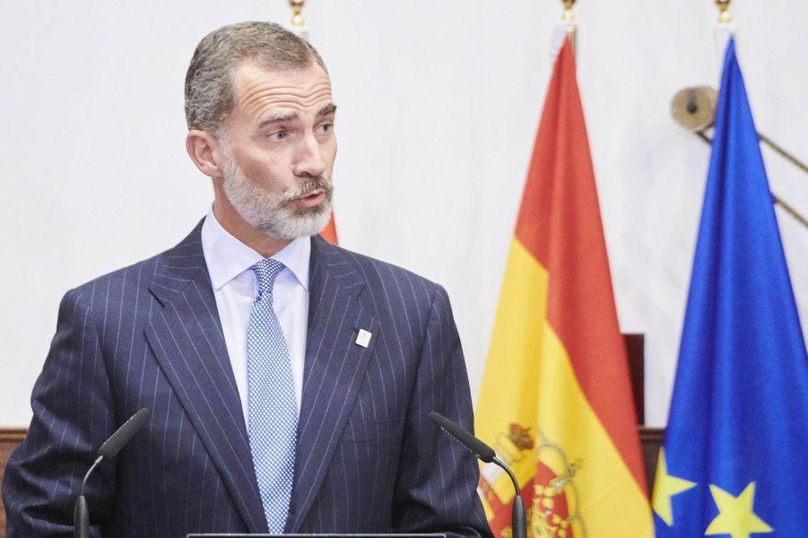 Le roi Felipe VI d'Espagne à Salamanque, le 18 septembre 2018