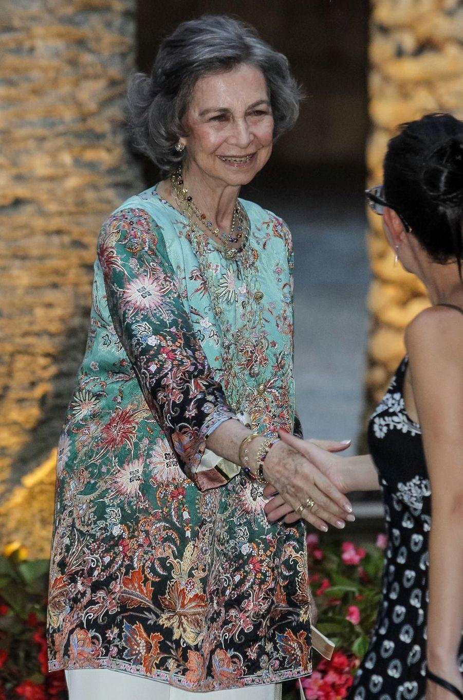 L'ex-reine Sofia d'Espagne à Palma de Majorque, le 3 août 2018