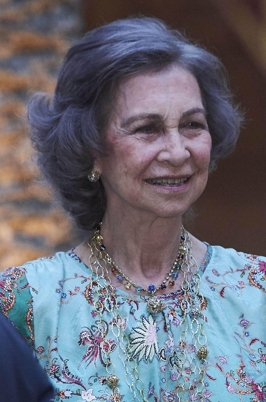 L'ancienne reine d'Espagne Sofia à Palma de Majorque, le 3 août 2018