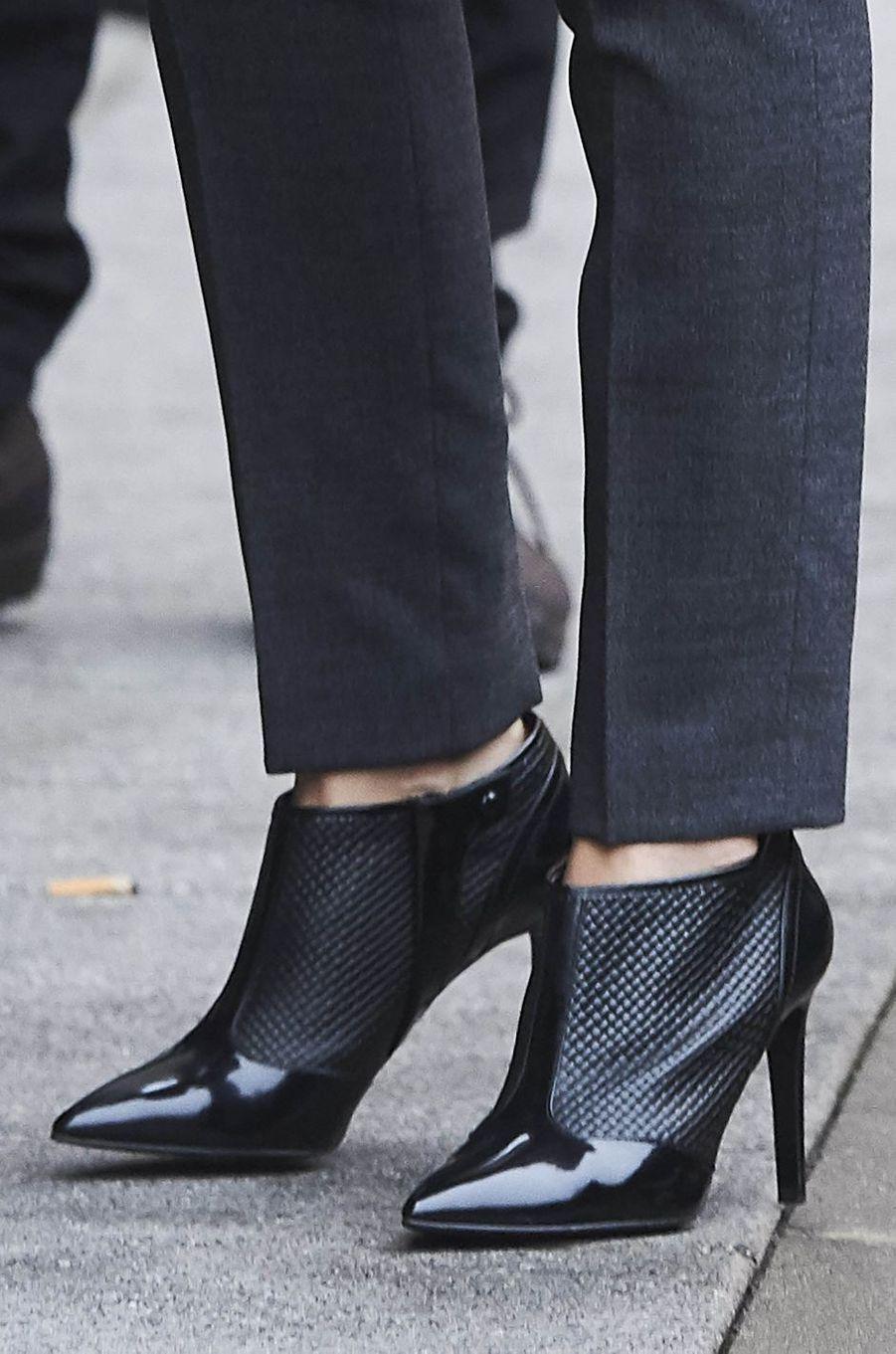 Les chaussures de la reine Letizia d'Espagne à Madrid, le 10 janvier 2018