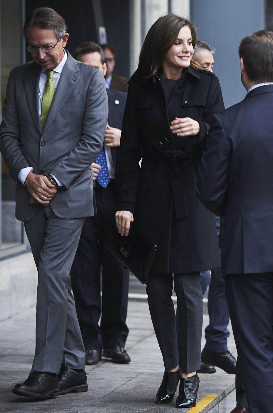 La reine Letizia d'Espagne à Madrid, le 10 janvier 2018