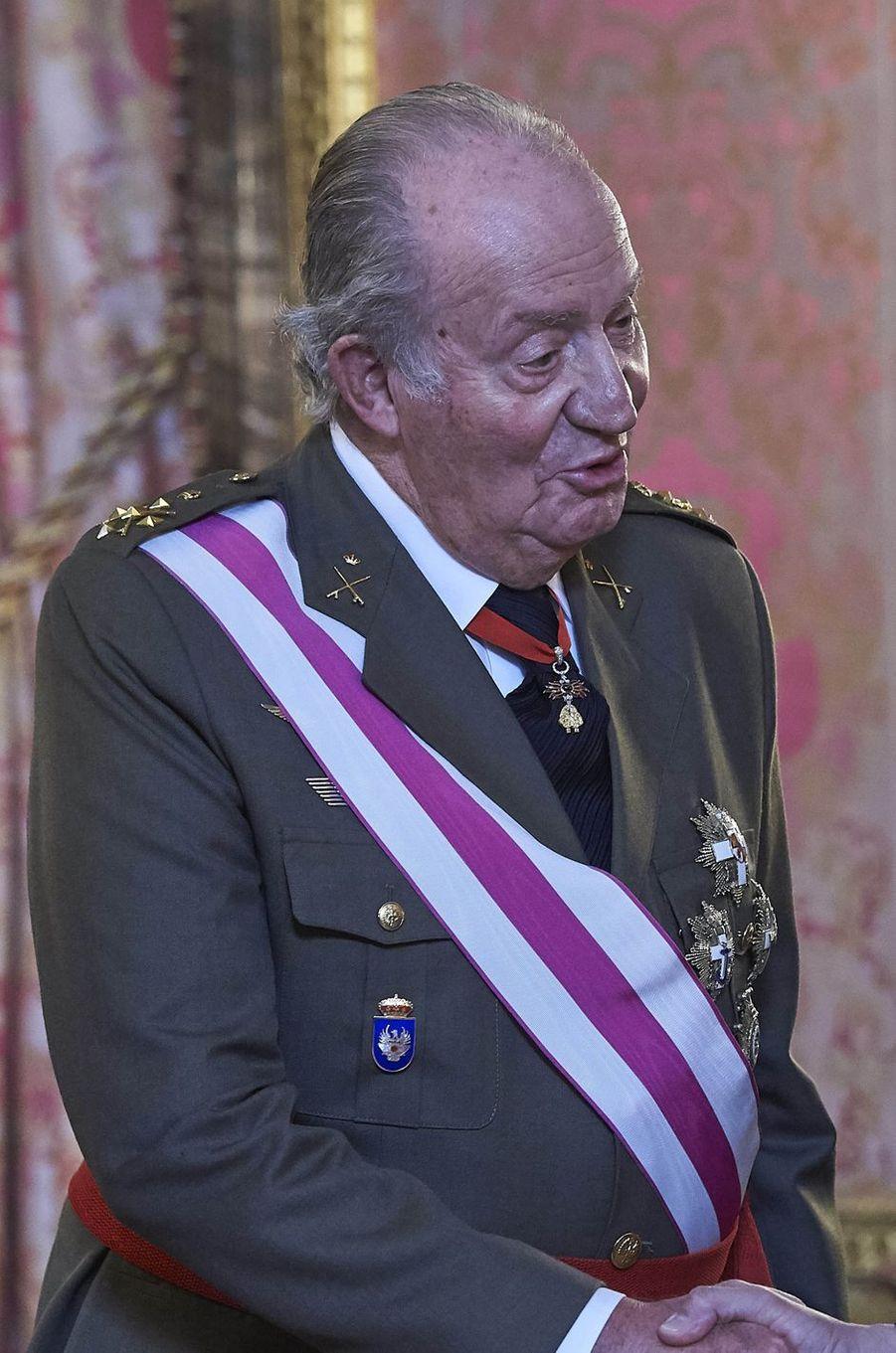 L'ancien roi Juan Carlos d'Espagne à Madrid, le 6 janvier 2018