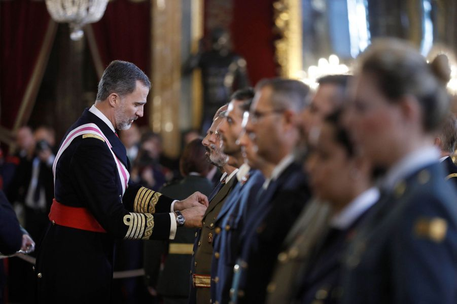 Le roi Felipe VI d'Espagne à Madrid, le 6 janvier 2018