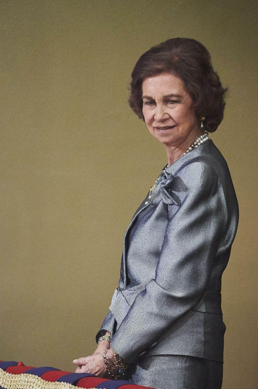 L'ancienne reine Sofia d'Espagne à Oviedo, le 21 octobre 2016, lors de la remise du prix princesse des Asturies