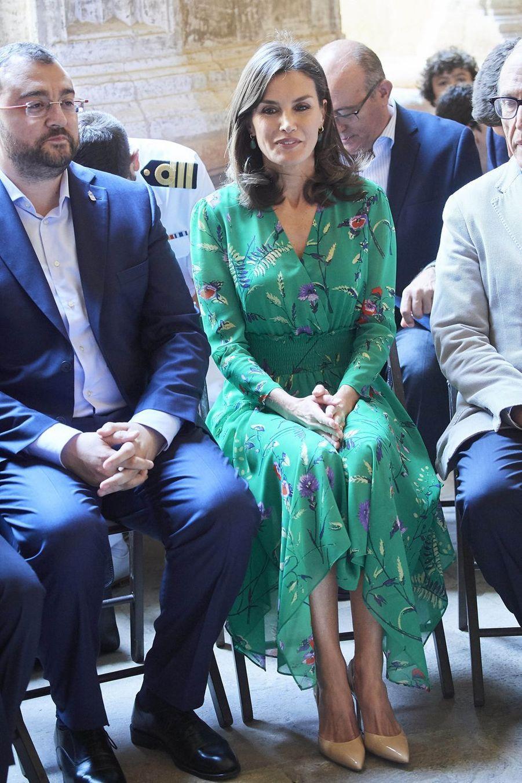 Letizia d'Espagne le 25 juillet 2019 à Oviedo.