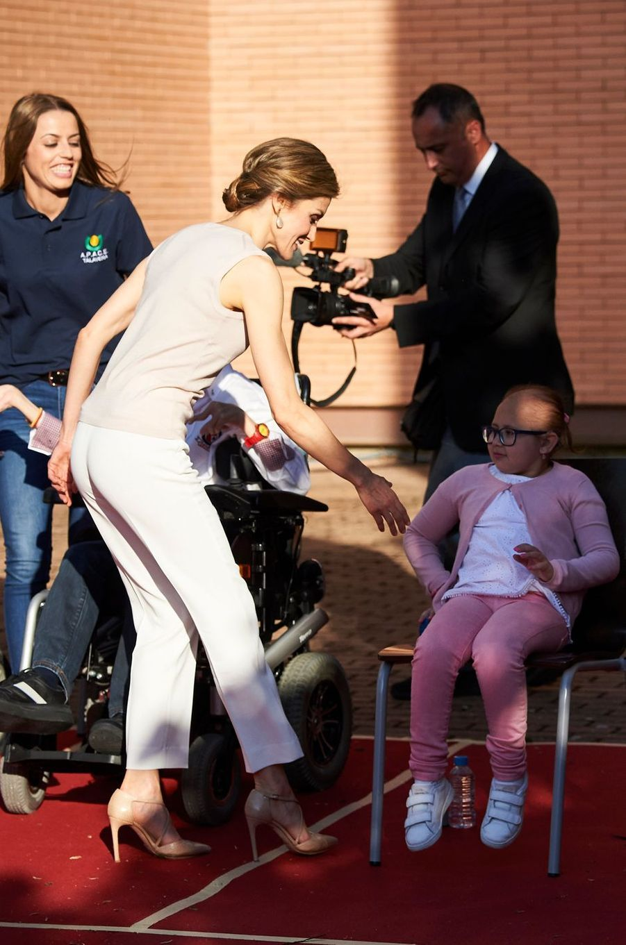 La reine Letizia d'Espagne à Talavera de la Reina, le 18 mai 2016